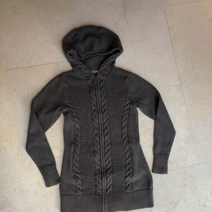 Cute Athleta Zipped Sweater with Hood